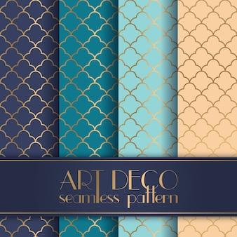 Art Deco patrón transparente