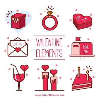 Artículos decorativos del día de san valentín