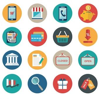 Artículos flat sobre el comercio electrónico