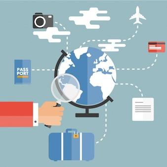 Artículos planos preparados para viajar