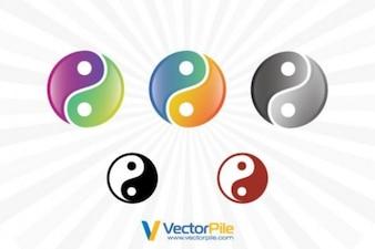 Asiático yin yang símbolos