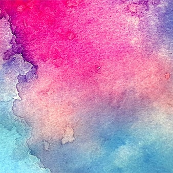 Asombrosa textura de acuarela, color rosa y azul