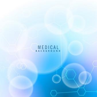 Asombroso fondo azul acerca de la ciencia médica
