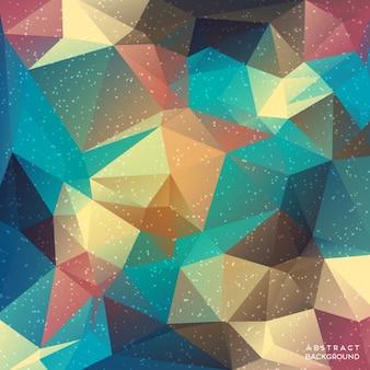 Asombroso fondo con formas poligonales a todo color