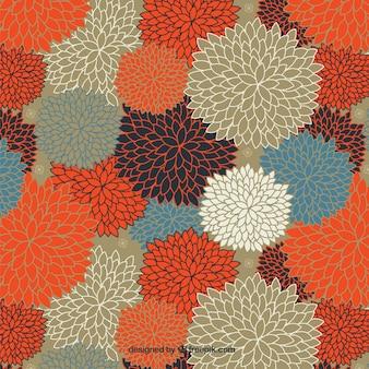 Asombroso patrón floral en colores cálidos