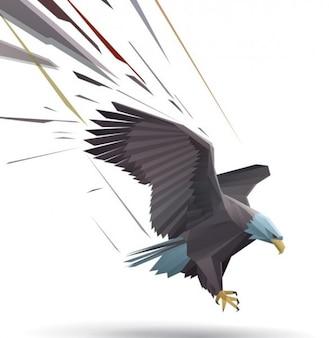 Aterrizaje del águila calva ilustrador vectorial