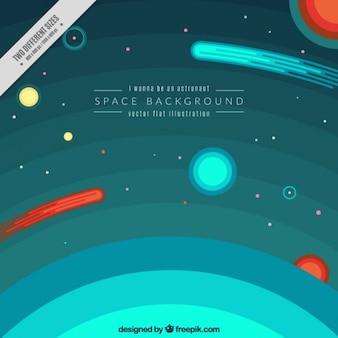 Atmósfera y el espacio de fondo