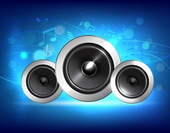 Audio concepto de la música de altavoz