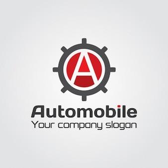 Automóvil Gear Letra A Logo