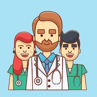 Avatar de colores de médicos