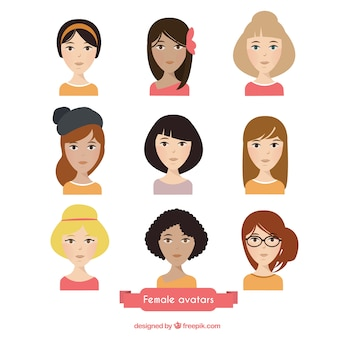 Avatares bonitos de mujeres
