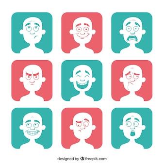 Avatares de dibujos animados