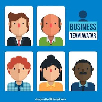 Avatares de equipo de trabajo
