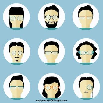 Avatares de gente con gafas