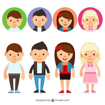 Avatares de jóvenes