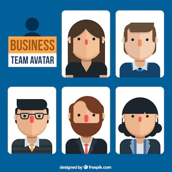 Avatares de personas de negocios