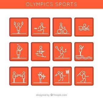 Avatares naranjas haciendo deporte