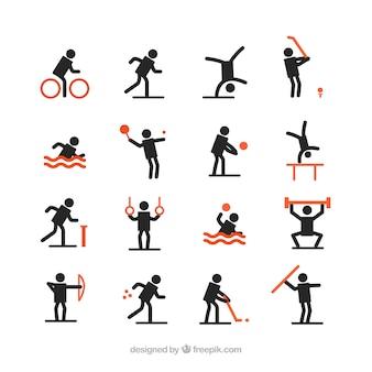 Avatares negros haciendo deporte