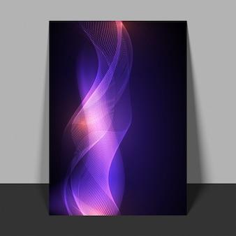 Aviador abstracto con las ondas púrpuras que fluyen.