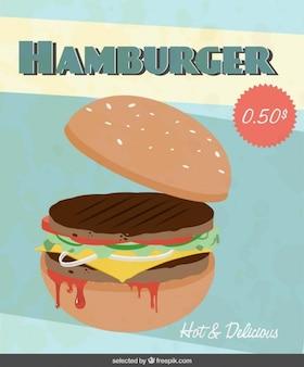 Aviador con la ilustración de la hamburguesa