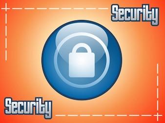 Azul bloqueo de seguridad