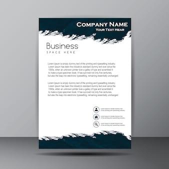 Azul marino y tarjeta blanca del folleto del negocio