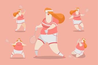 Badminton Mujeres Diseño de Carácter