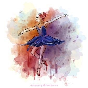 Bailarín de ballet de la acuarela