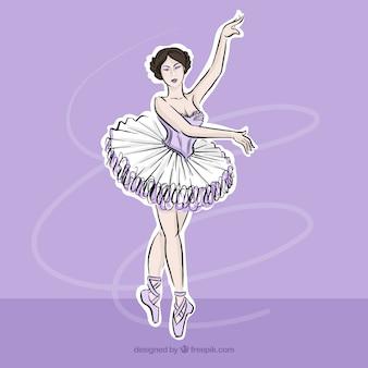 Bailarina clásica dibujada a mano