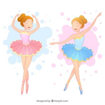 Bailarinas hermosas en dos colores