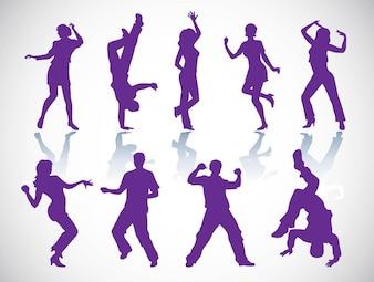 bailarines de vectores