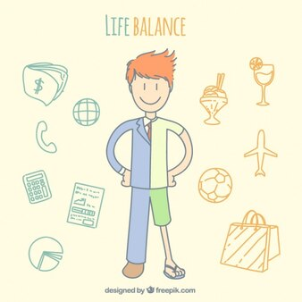 Balance de vida dibujado a mano