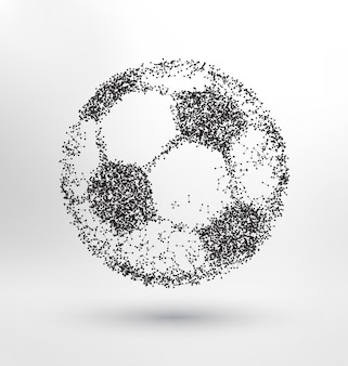 Balón de fútbol abstracto