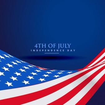 Bandera americana en el estilo de la onda