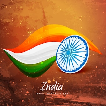 Bandera de la India de papel viejo
