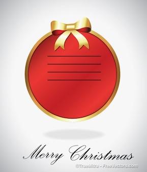 Bandera roja de la Navidad con la cinta