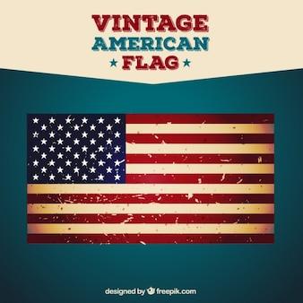 Bandera vintage americana