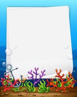 Bandera y arrecife