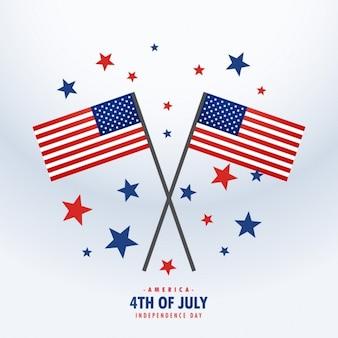 Banderas americanas con las estrellas