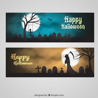 Banderas de felicitación de Halloween