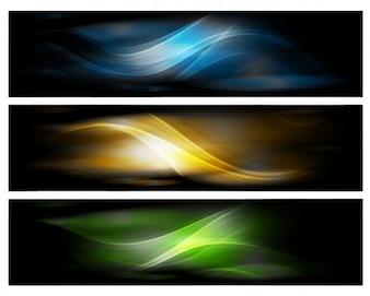 Banderas diseño abstracto de fondo vector