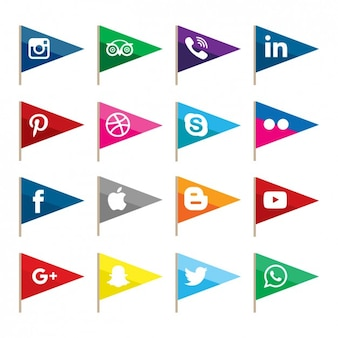 Banderas sociales de la red