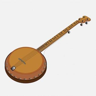 Banjo de música folk