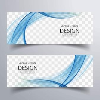 Banner abstracto con formas onduladas