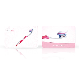Banner con diseño de cepillo de dientes