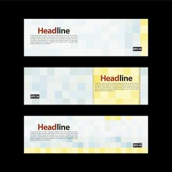 Banner con diseño de pixels