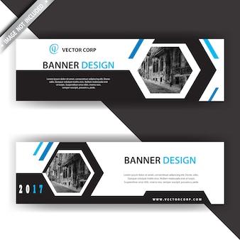 Banner con diseño geométrico