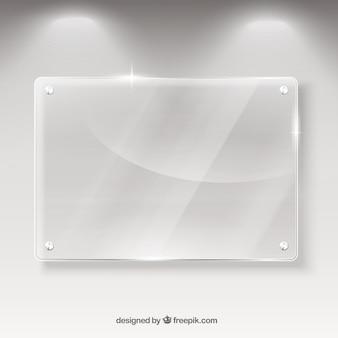 Banner de cristal