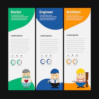 Banner de negocios con personajes