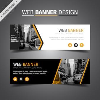Banner de página web con diseño en negro